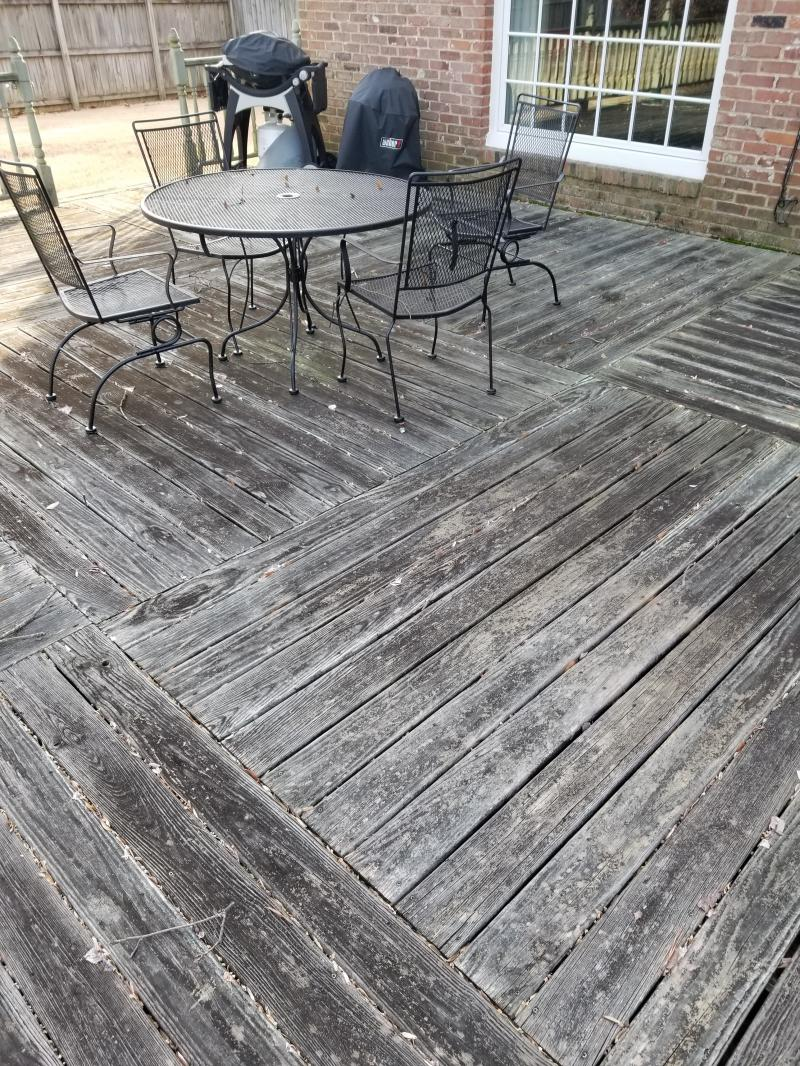 1200 sq ft deck before